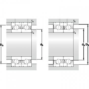 85 mm x 130 mm x 22 mm Da max. SKF 7017 ACE/HCP4AL1 Back-to-back duplex arrangement Bearings