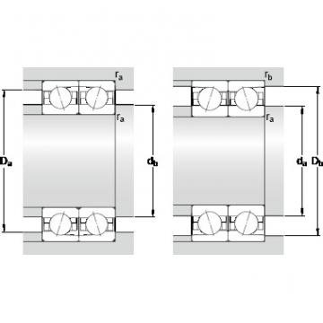 90 mm x 140 mm x 24 mm Basic dynamic load rating C SKF 7018 CDTP/HCP4B Double-Row Angular Contact Ball Bearings