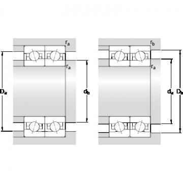 90 mm x 140 mm x 24 mm Da max. SKF 7018 CE/P4BVG275 Double-Row Angular Contact Ball Bearings