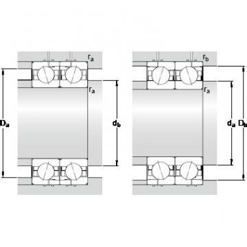 12 mm x 28 mm x 8 mm Calculation factor f2B SKF 7001 ACD/HCP4AH Double-Row Angular Contact Ball Bearings
