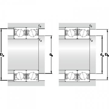 100 mm x 150 mm x 24 mm Da max. SKF S7020 ACDTP/P4B Lower Torque Precision Bearings