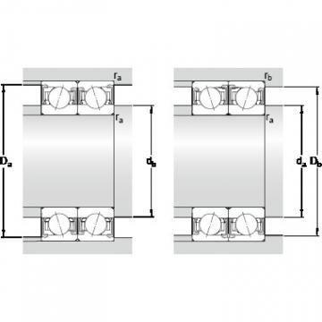 40 mm x 68 mm x 15 mm Calculation factor f2B SKF S7008 CDTP/P4B Double-Row Angular Contact Ball Bearings