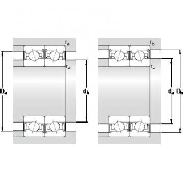 70 mm x 110 mm x 20 mm B SKF S7014 CE/HCP4BVG275 Double-Row Angular Contact Ball Bearings