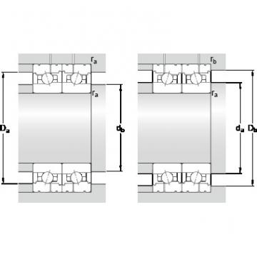85 mm x 130 mm x 22 mm Calculation factor f2A SKF 7017 CB/HCP4AL Back-to-back duplex arrangement Bearings