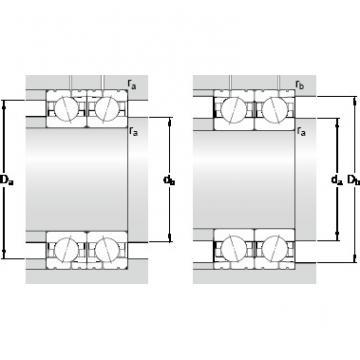 100 mm x 140 mm x 20 mm d2 SKF 71920 CD/P4AL Double-Row Angular Contact Ball Bearings
