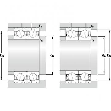 80 mm x 125 mm x 22 mm ra max. SKF 7016 ACD/P4AL Double-Row Angular Contact Ball Bearings