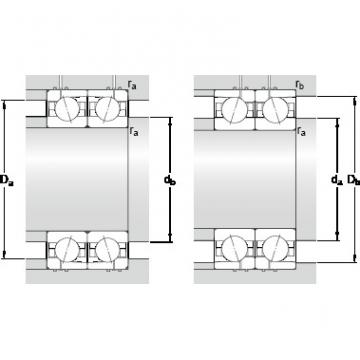 75 mm x 115 mm x 20 mm Preload class B GB SKF 7015 CD/HCP4AH1 Double-Row Angular Contact Ball Bearings