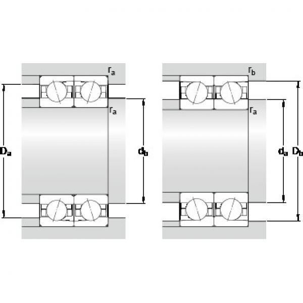 70 mm x 110 mm x 20 mm D SKF 7014 ACDTP/P4B Back-to-back duplex arrangement Bearings #5 image