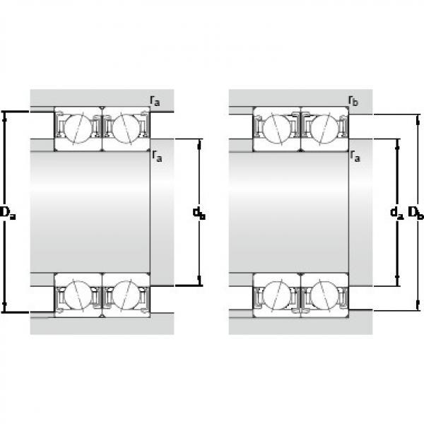 90 mm x 140 mm x 24 mm Number of balls z SKF S7018 CDTP/HCP4B Back-to-back duplex arrangement Bearings #5 image
