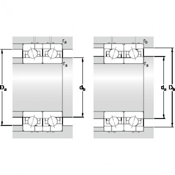 15 mm x 32 mm x 9 mm Da max. SKF 7002 CE/P4AH Back-to-back duplex arrangement Bearings #5 image